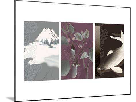 Symbols of Japan Triptych--Mounted Photo