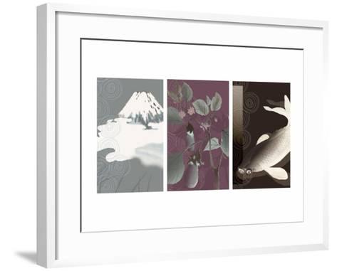 Symbols of Japan Triptych--Framed Art Print