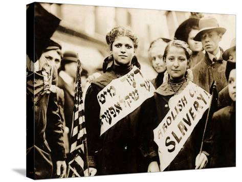 Protest against Child Labor, New York, 1909--Stretched Canvas Print