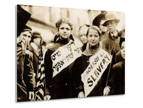 Protest against Child Labor, New York, 1909--Metal Print