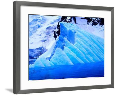 Blue Icebergs, Antarctica-Joe Restuccia III-Framed Art Print