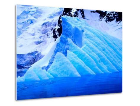 Blue Icebergs, Antarctica-Joe Restuccia III-Metal Print