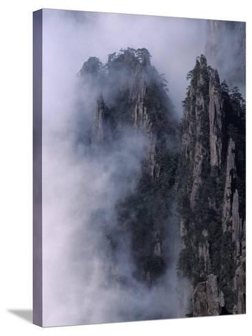 Mt. Huangshan (Yellow Mountain) in Mist, China-Keren Su-Stretched Canvas Print