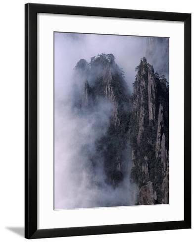 Mt. Huangshan (Yellow Mountain) in Mist, China-Keren Su-Framed Art Print