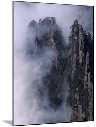 Mt. Huangshan (Yellow Mountain) in Mist, China-Keren Su-Mounted Photographic Print