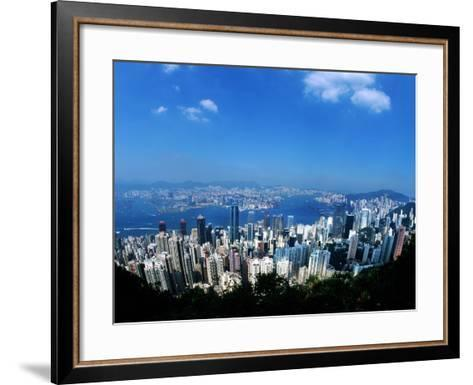 Majestic Hong Kong Harbor from Victoria Peak, Hong Kong, China-Bill Bachmann-Framed Art Print