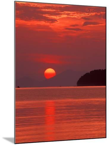 Andaman Sea Glows With Reflected Sunset, Thailand-John & Lisa Merrill-Mounted Photographic Print
