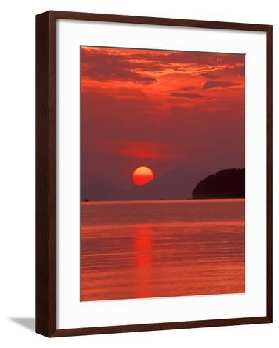 Andaman Sea Glows With Reflected Sunset, Thailand-John & Lisa Merrill-Framed Art Print