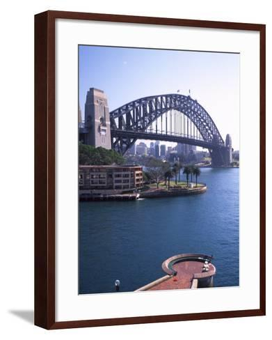 Sydney Harbor Bridge, Australia-David Wall-Framed Art Print