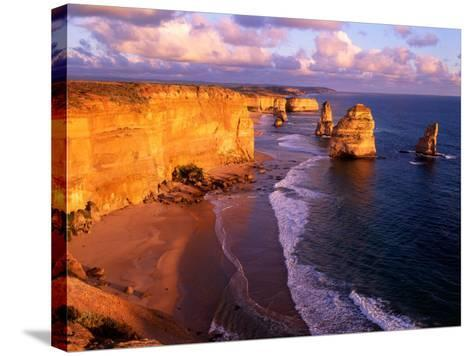 Morning at 12 Apostles, Great Ocean Road, Port Campbell National Park, Victoria, Australia-Howie Garber-Stretched Canvas Print