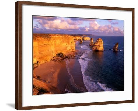 Morning at 12 Apostles, Great Ocean Road, Port Campbell National Park, Victoria, Australia-Howie Garber-Framed Art Print