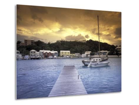 View of Flatts Village, Bermuda, Caribbean-Robin Hill-Metal Print