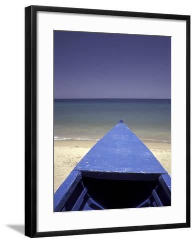 Boat on Pinney Beach, Nevis, Caribbean-Robin Hill-Framed Art Print