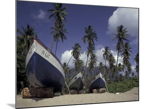 Boat on Pinney Beach, Nevis, Caribbean-Robin Hill-Mounted Photographic Print