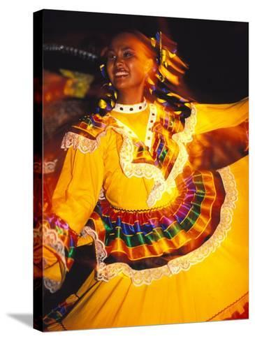 Traditional Mexican Dress, Caribbean-Robin Hill-Stretched Canvas Print