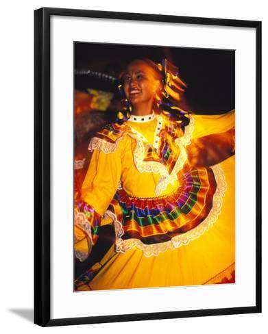 Traditional Mexican Dress, Caribbean-Robin Hill-Framed Art Print