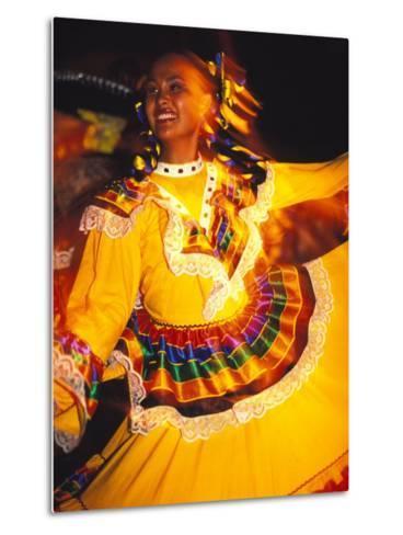 Traditional Mexican Dress, Caribbean-Robin Hill-Metal Print