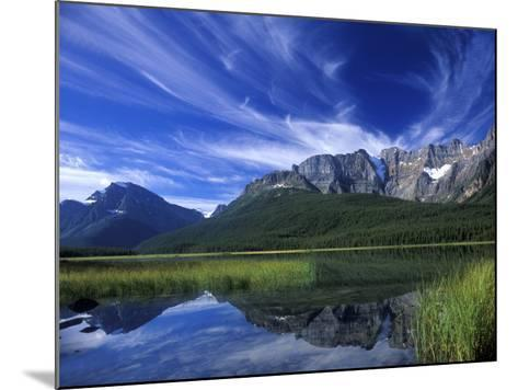 Cirrus Clouds Over Waterfowl Lake, Banff National Park, Alberta, Canada-Janis Miglavs-Mounted Photographic Print