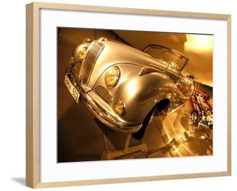 Interior of BMW Car Museum, Munich, Bayern, Germany-Walter Bibikow-Framed Art Print
