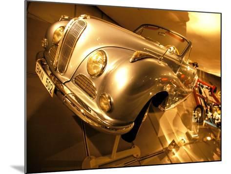 Interior of BMW Car Museum, Munich, Bayern, Germany-Walter Bibikow-Mounted Photographic Print