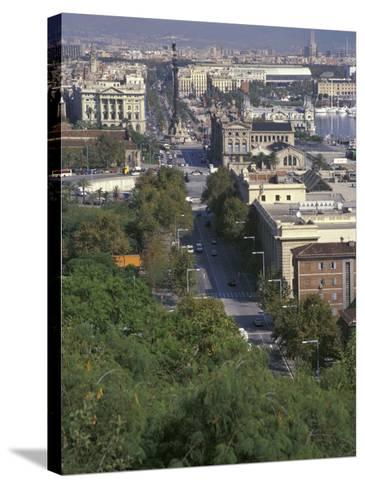 City View, Barcelona, Spain-Michele Westmorland-Stretched Canvas Print