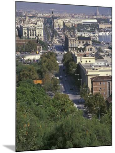 City View, Barcelona, Spain-Michele Westmorland-Mounted Photographic Print