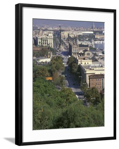 City View, Barcelona, Spain-Michele Westmorland-Framed Art Print
