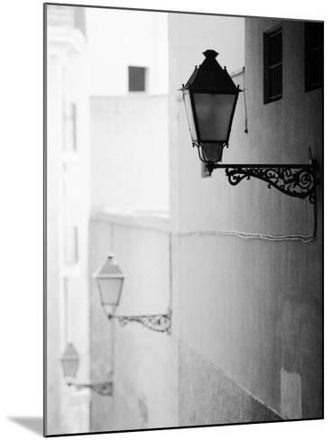 Streelights, Palma, Mallorca, Spain-Walter Bibikow-Mounted Photographic Print