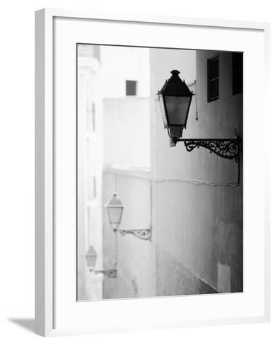 Streelights, Palma, Mallorca, Spain-Walter Bibikow-Framed Art Print