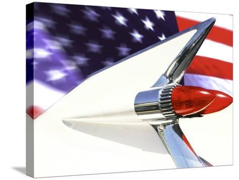 Classic Cadillac and American Flag-Bill Bachmann-Stretched Canvas Print