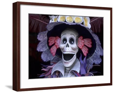 Corazon Del Pueblo Folk Art Store, Day of the Dead, Oaxaca, Mexico-Judith Haden-Framed Art Print