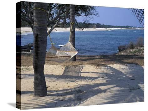 Beach Hammock, Punta Mita, Puerto Vallarta, Mexico-Judith Haden-Stretched Canvas Print