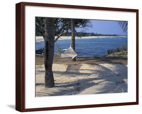 Beach Hammock, Punta Mita, Puerto Vallarta, Mexico-Judith Haden-Framed Art Print