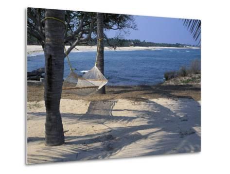 Beach Hammock, Punta Mita, Puerto Vallarta, Mexico-Judith Haden-Metal Print