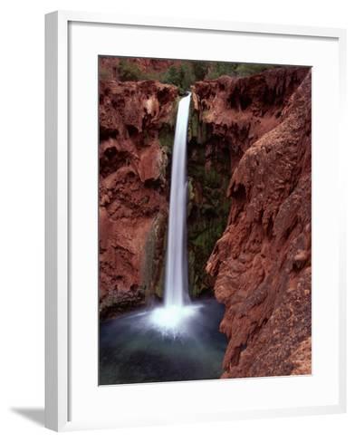 Mooney Falls in Parched Desert of Havasupai Reservation, Havasu Canyon, Arizona, USA-Jerry Ginsberg-Framed Art Print