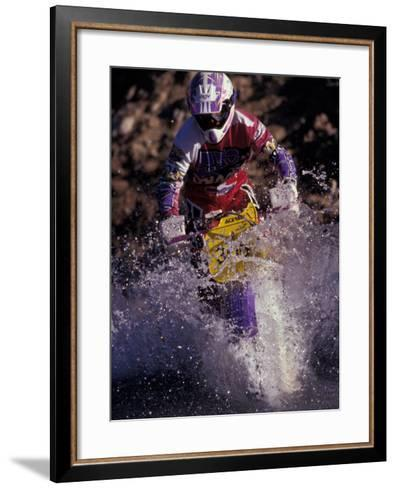 Dirt Biking, Colorado, USA-Lee Kopfler-Framed Art Print