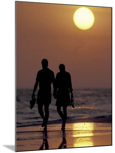 Couple Walking on Beach at Sunset, Sarasota, Florida, USA-Maresa Pryor-Mounted Photographic Print