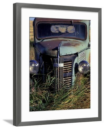 Old Truck in Field, Gennesse, Idaho, USA-Darrell Gulin-Framed Art Print