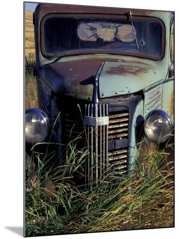 Old Truck in Field, Gennesse, Idaho, USA-Darrell Gulin-Mounted Photographic Print