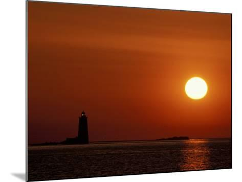 Sunrise on Whaleback Light and the Mouth of Piscataqua River, Fort Foster, Maine, USA-Jerry & Marcy Monkman-Mounted Photographic Print
