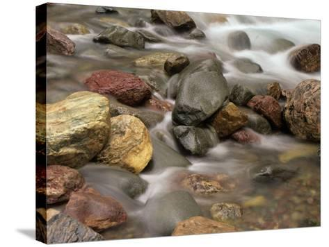 Stones in the Creek Below Baring Falls, Montana, USA-Jerry Ginsberg-Stretched Canvas Print