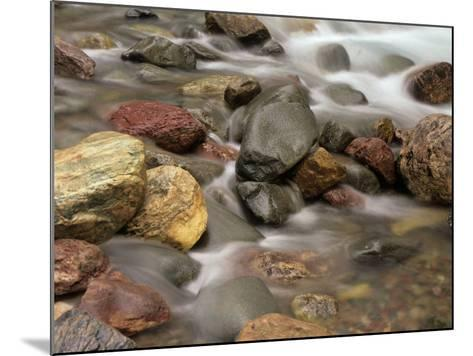 Stones in the Creek Below Baring Falls, Montana, USA-Jerry Ginsberg-Mounted Photographic Print