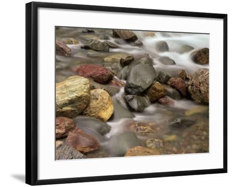 Stones in the Creek Below Baring Falls, Montana, USA-Jerry Ginsberg-Framed Art Print