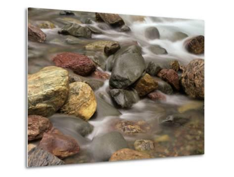 Stones in the Creek Below Baring Falls, Montana, USA-Jerry Ginsberg-Metal Print