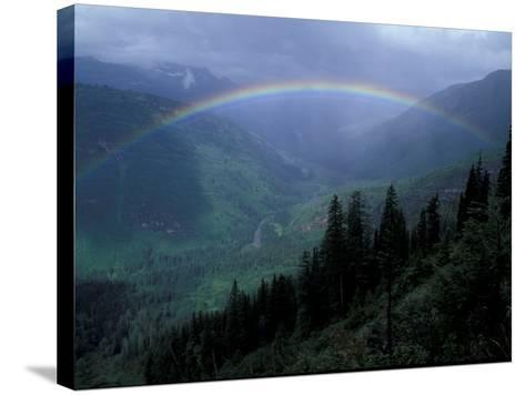 Rainbow From Going to the Sun Road, Glacier National Park, Montana, USA-Jamie & Judy Wild-Stretched Canvas Print