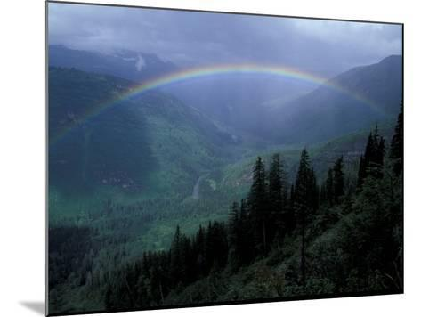 Rainbow From Going to the Sun Road, Glacier National Park, Montana, USA-Jamie & Judy Wild-Mounted Photographic Print