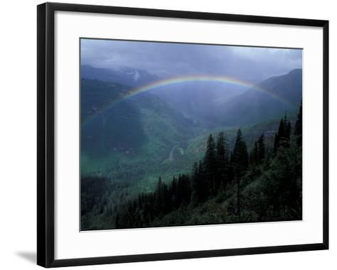 Rainbow From Going to the Sun Road, Glacier National Park, Montana, USA-Jamie & Judy Wild-Framed Art Print