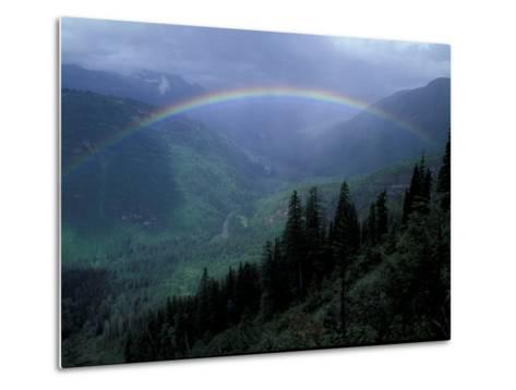 Rainbow From Going to the Sun Road, Glacier National Park, Montana, USA-Jamie & Judy Wild-Metal Print
