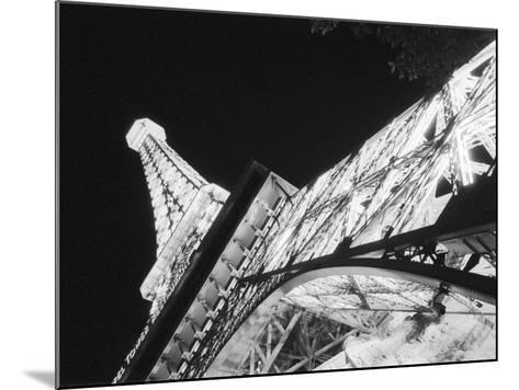 Eiffel Tower and Paris Casino at Night, Las Vegas, Nevada, USA-Walter Bibikow-Mounted Photographic Print
