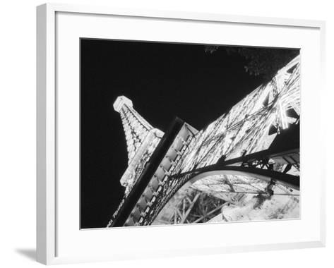 Eiffel Tower and Paris Casino at Night, Las Vegas, Nevada, USA-Walter Bibikow-Framed Art Print